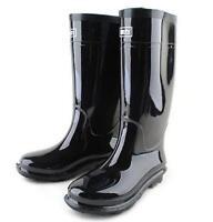 Mens Black Waterproof Rain Snow Wellington Rubber Boots Galoshes Wellies Uk Size