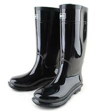 Mens Black Waterproof Rain Snow Wellington Rubber Boots Galoshes Wellies Shoes