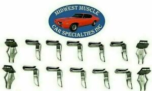 NOSR Chrysler Dodge Plymouth Door Quarter Panel Retainer Bushing Clips 14pc PD