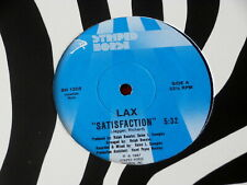 "LAX~ SATISFACTION~ NEAR MINT~ STRIPED HORSE~ ROLLING STONES ~ 12"" SINGLE"