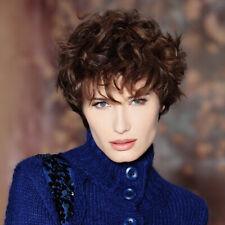 100% Human Hair Curly Clip-On Hair Topper Hair Extension Short Hair Wig