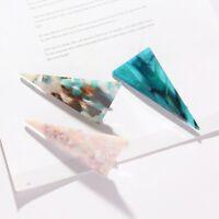 Women Fashion Marble Texture Hairpin Acrylic Geometry Triangle Hair pin Jewelry