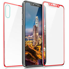For iPhone X 7 8 8+ 3D Front+Back Titanium Tempered Glass Film Screen Protector