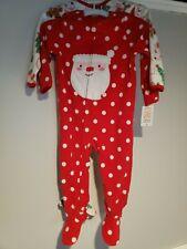 NWT Carter's Footed Pajamas 2 Piece Set Size 2T Christmas Fleece Santa Snowman