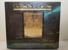 Cal Ripken Jr Lou Gehrig Iron Men 23K Gold Commemorative Baseball Card Set NIB!
