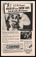 1943 WWII Coleman Pocket Camp Stove AD US Army Ski Troopers in snow cave
