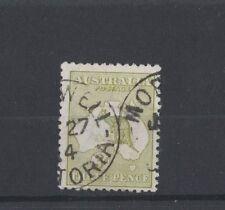 1913 Australia Roo 3d olive die Ii first wmk fine used