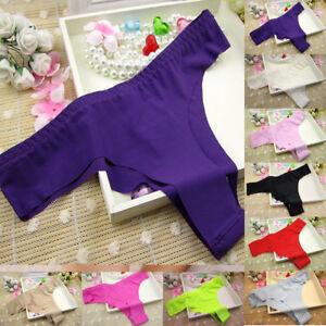 Womens Seamless V-string Briefs Panties Thongs G-string Lingerie Underwear Lady