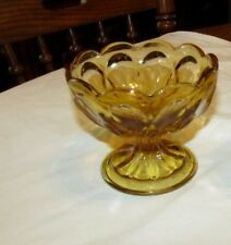 Lot 3 Anchor Hocking Fairfield Amber Compote Glass Bowl Ice Cream Candy Sherbet