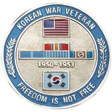 "KOREAN WAR VETERAN KOREA  MEDAL RIBBON 1.75"" CHALLENGE COIN"