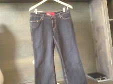 Womens Red Ecko Emerald jeans size 9 INSEAM 31 INCHES COTTON POLY BLEND EUC