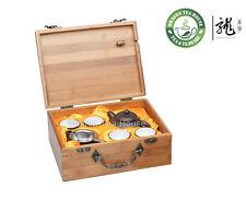 Traveller's Bamboo Gongfu Yixing Clay Teaset * 8 pcs