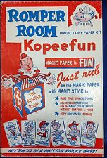 Romper Room Magic Copy Paper Kit Kopeefun 1965 Embree Mfg Co Cartoon Art Crafts