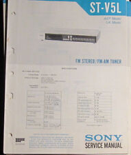 Sony ST-V5L tuner service repair workshop manual (original copy)