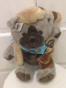 Vintage 1986 Emotions Mattel FRONTIER BEAR Raccoon Tail hat~Bandanna~Tags