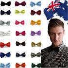 Men's Formal Neckwear Bowtie Adjustable Solid Plain Color Classic Bow Tie CBTIE