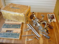 Good Stanley 45 Sw R&L Wood Plane Carpenter Woodworking Tool + 2 Boxes Blades