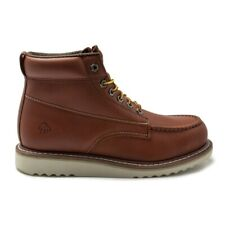 New Mens Wolverine Tan Apprentice Leather Boots Lace Up