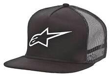 NEW Alpinestars Mx Corp Black Hat Motocross Moto FMX Mens Snapback Trucker Cap
