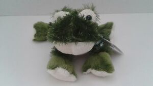 Webkinz Lil'Kinz Ganz Green Frog Stuffed Plush Animal Pet Secret Code Sealed