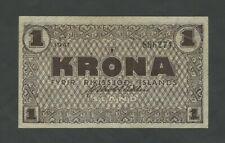 More details for iceland  1 krona  1941  krause 22f  good vf  banknotes
