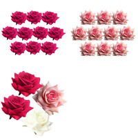 20pcs Velvet Rose Flowers For Garland Flower Ball Making Wedding Party Decor