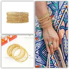 Stella & Dot Bardot Spiral Bangle Bracelet Gold New In Box