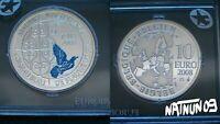 BELGIUM / 2008 - 10 EURO / BLUE BIRD / SILVER COIN BU