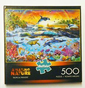 "Buffalo Games Amazing Nature Tropical Paradise 500 Piece Puzzle 21.25"" x 15"""