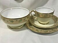Spode Breakfast Set -Oakley Teacup, Saucer, Plate and Bowl - Excellent Condition