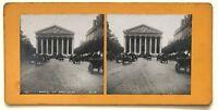 Parigi Rue Royale E La Madeleine Foto P39L9n21 Stereo Stereoview Vintage