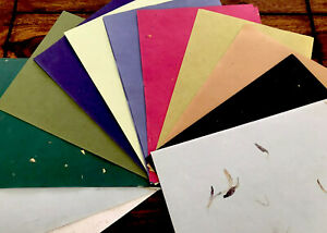 100 Sheets A5 handmade Cotton paper assorted