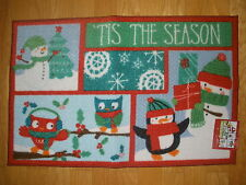 "NEW CHRISTMAS ""TIS THE SEASON"" DOOR/FLOOR ACCENT HOLIDAY RUG MAT SIZE 20""X30"""