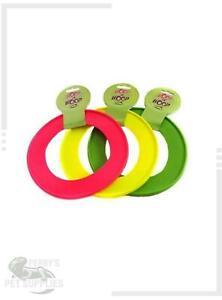 Happy Pet Hoop La Hoop Frisbee Small or Large Dog Toy Vinyl Throwing Ring