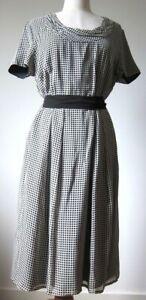 TRENT NATHAN DRESS, Black & White, Size 16 BNWT