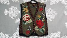 Eddie Bauer Unisex Multi-Color Floral Vinatge Vest Wool Blend Sz M