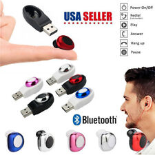 Wireless Bluetooth Earphones In Ear Earpiece Invisible Headphone USB Charger