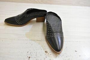 Very Volatile Gabbro Block Heel Mules, Women's Size 9, Black MSRP $79.95