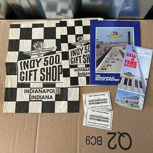 Indianapolis Motor Speedway Book Indy 500 Gift Shop Bags Track Tour Ticket Stubs