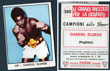 "Gabriel ""Flash"" Elorde (Philippines) Panini Boxing CARD 1966! MINT n.380!"