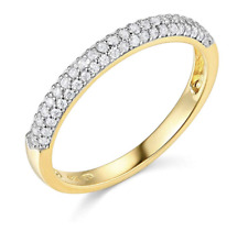 2.00 Ct Round Cut Real 14k Yellow Gold Engagement Wedding Anniversary Band Ring