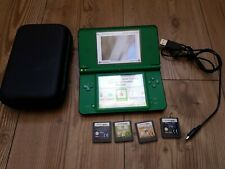 Nintendo DSi XL Green Handheld System  with installed games & 4 loose games