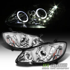 2003-2008 Toyota Corolla LED Halo Projector Headlights Headlamps Left+Right Pair