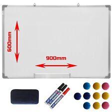 Large Magnetic Dry Wipe Whiteboard 900x 600mm Office School Drawing Notice Board
