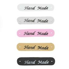 20pcs PU Leather Tags On Clothes Garment Labels For Jeans Bags Shoes Sewing E0Xc