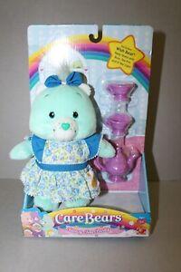 2005 Care Bears Fancy Tea Party w/ Wish Bear in Blue Party Dress NEW in Box