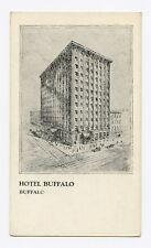 Hotel Buffalo in Buffalo, NY B&W  Postcard
