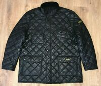 Barbour Buff International rare mens shiny black quilted jacket size XXL