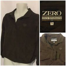 ZERO Restriction Men's Brown Quarter Snap Golf Outerwear Pullover Jacket SZ M