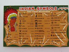 New ListingVintage Postcard American Indian Symbols Native Americana A3102